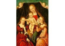 D-6085 Lucas Cranach - Mystické zasnoubení svaté Kateřiny