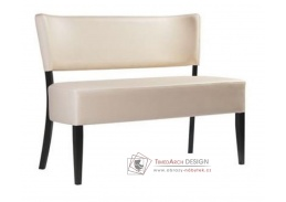 ISABELA 383761, lavice, bukový masiv / koženka