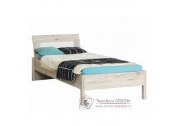 VALERIA, postel 90x200cm, dub pískový / bílá