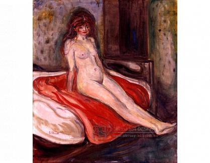 VEM13-152 Edvard Munch - Žena na červené dece