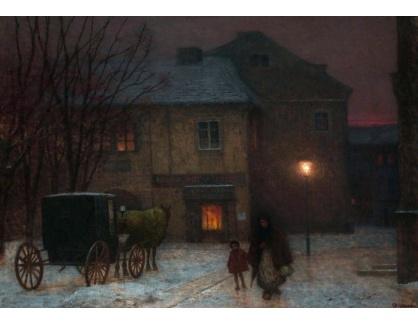 Jakub Schikaneder - Zimní večer ve městě II