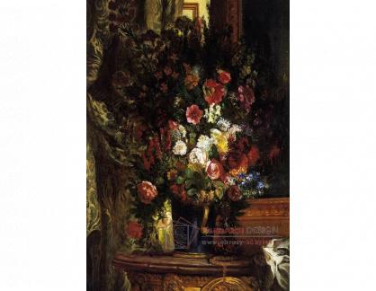 VEF 37 Eugene Ferdinand Victor Delacroix - Zátiší s květinami ve váze