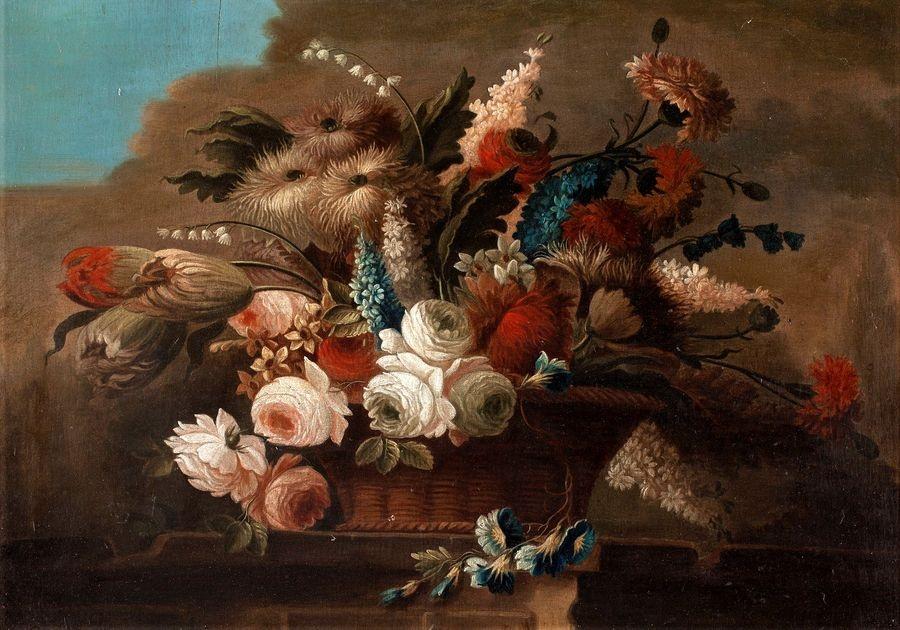 Krásné obrazy VI-105 Neznámý autor - Zátiší s květinami
