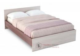 BASIA KP-558, postel 160x200cm, jasan šimo tmavý / jasan šimo světlý