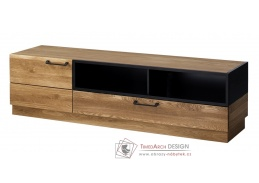 MOSAIC, televizní stolek 25, dub / černá