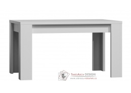 Jídelní stůl rozkládací 160-200x90 cm PARIS bílý