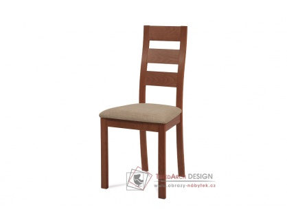 BC-2603 TR3, jídelní židle, třešeň / látka béžová