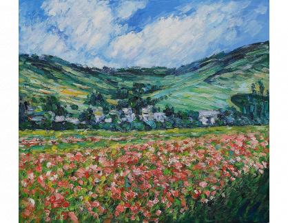 VCM 126 Claude Monet - Vlčí máky v Giverny
