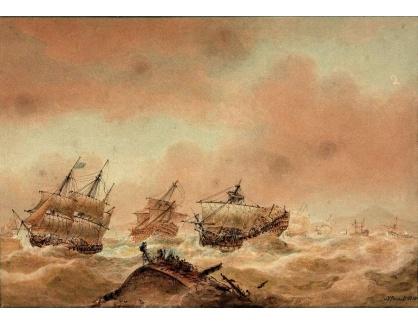 VANG250 Nicholas Pocock - Následující den po bitvě u Trafalgaru