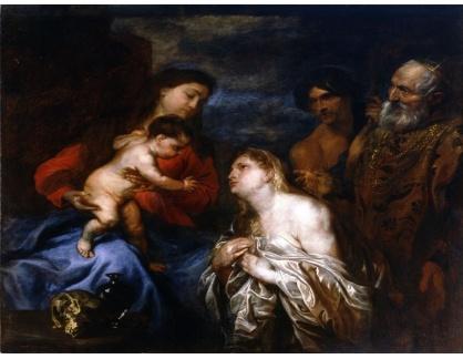 KO III-42 Anton van Dyck - Panna a dítě s litujícími hříšníky