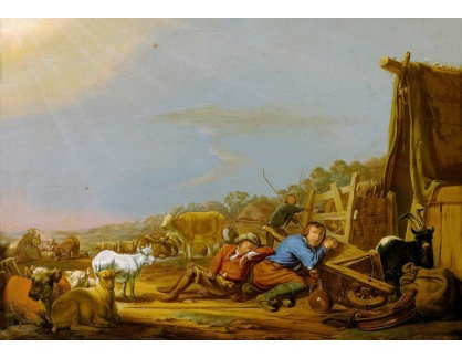 Krásné obrazy IV-71 Jan van Ossenbeeck - Zvěstování pastýřům