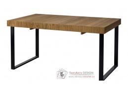MOSAIC,  jídelní rozkládací stůl 40, dub / černá
