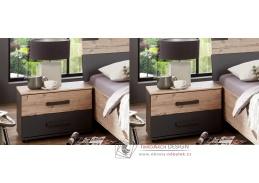 LOMAZA 698, noční stolek - sada 2ks, stříbrná jedle / šedá grafit