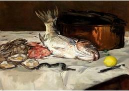 D-7125 Édouard Manet - Zátiší s rybami