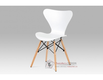 CT-742 WT, jídelní židle,natural / plast bílý