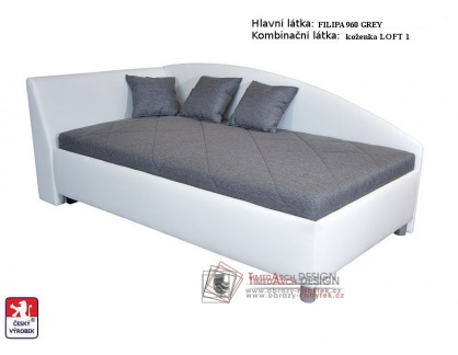 ANDREW, postel 90x200cm, volně ložená matrace