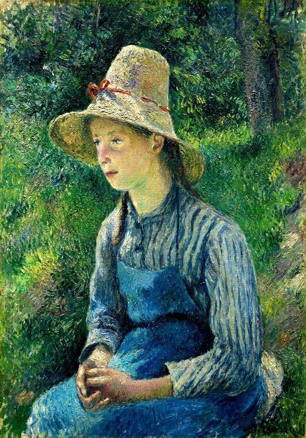 VCP-477 Camille Pissarro - Dívka ve slaměném klobouku