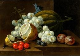 A-1353 Johann Amandus Winck - Zátiší s hrozny a citronem