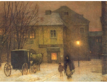 Jakub Schikaneder - Zimní večer ve městě III