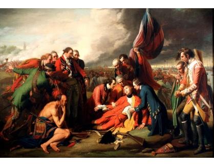 VANG267 Benjamin West - Smrt generála Wolfa