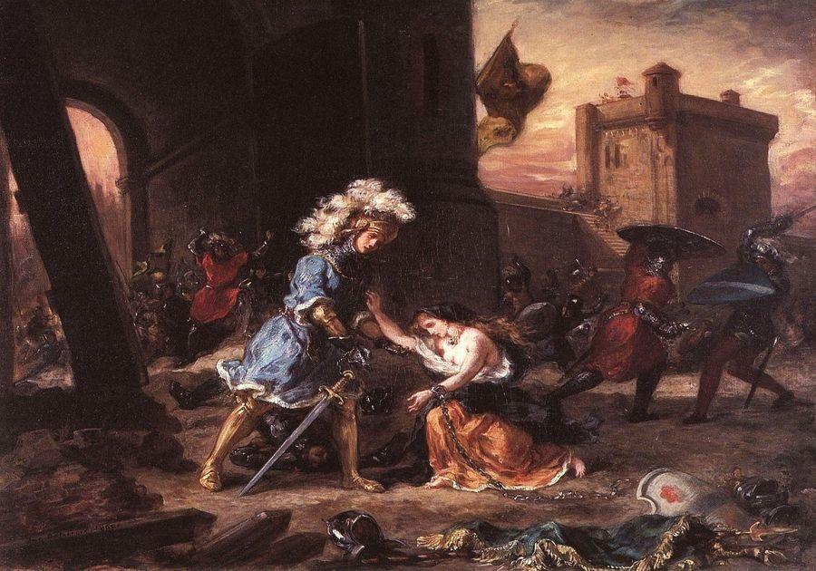 VEF 11 Eugene Ferdinand Victor Delacroix - Amadis osvobozující princeznu Olgu z hradu Galpans