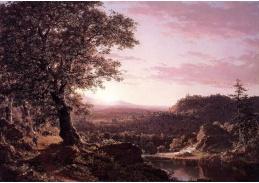VSO 641 Frederic Edwin Church - Západ slunce v červenci