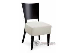 ALBERT 313549, jídelní židle, bukový masiv / koženka