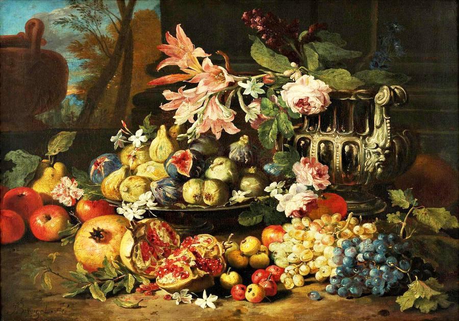BRG-02 Abraham Breughel - Zátiší s ovocem a květinami