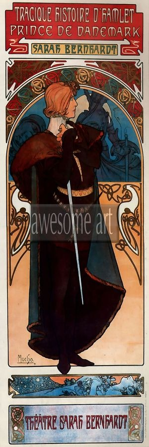 Obraz VAM VAM-126 Alfons Mucha - Hamlet