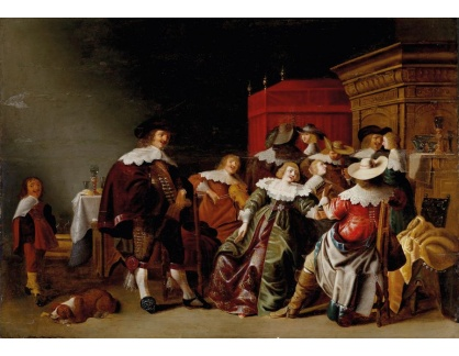 Slavné obrazy XVI-188 Anthonie Palamedesz - Večírek s hudbou