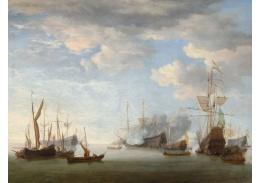 D-6536 Willem van der Velde - Námořní bitva
