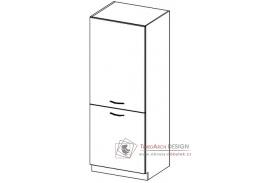 Potravinová skříň DG60 KARMEN krémový lesk - levá
