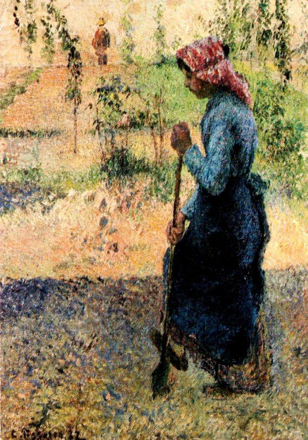 Obraz VCP-485 Camille Pissarro - Práce na zahradě
