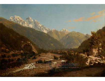 VR-463 Petr Petrovič Vereščagin - Výhled na horu Karaugom na Kavkaze