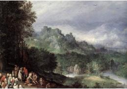 VH253 Jan Brueghel - Vlámský trh, detail