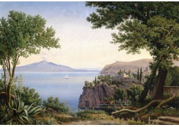 Slavné obrazy XIII-107 Carl Ludwig Rundt - Pohled na Vesuv