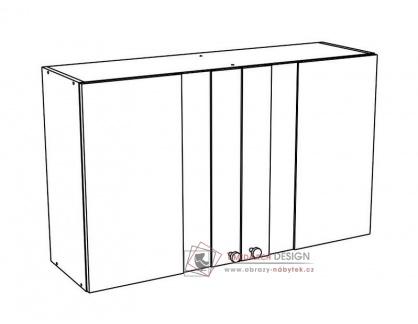 EKO, horní skříňka s vitrínou 100HS bílá