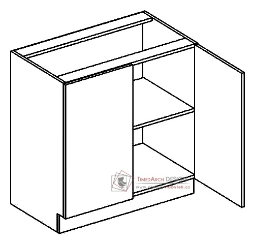 Dolní skříňka dvojdvéřová D80 PREMIUM olše