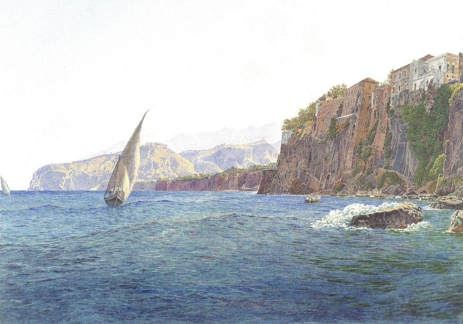 VALT 100 Rudolf von Alt - Torquato Tasso v Sorrento, poblíže Neapole