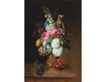 Slavné obrazy I-DDSO-64 Carl von Saar - Květinové zátiší