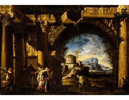 Slavné obrazy III-DDSO-479 Ascanio Luciani - Abraham se třemi anděly