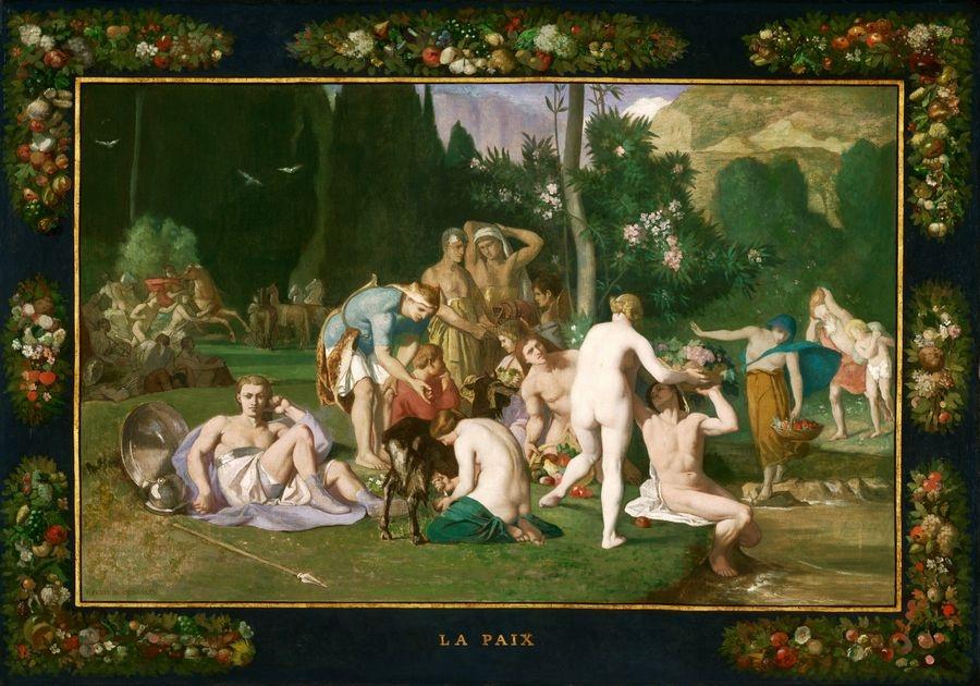 Slavné obrazy XIV-14 Pierre Puvis de Chavannes - Mír