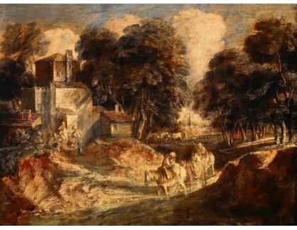KO III-382 Thomas Gainsborough - Zalesněná krajina s rolníky