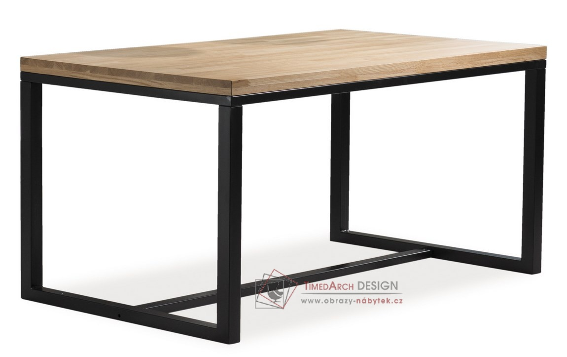 Jídelní stůl 150x90cm LORAS A černá / dýha dub