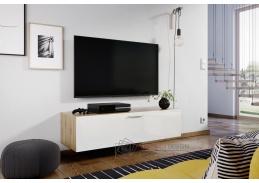 ALABAMA, televizní stolek, dub artisan / bílý lesk