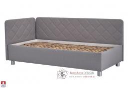FIONA, postel 110x200cm, látka MALMO NEW 83 / BEZ matrace