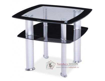 DARIA D, konferenční stolek, aluminium / sklo