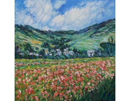 VCM 127 Claude Monet - Vlčí máky v Giverny