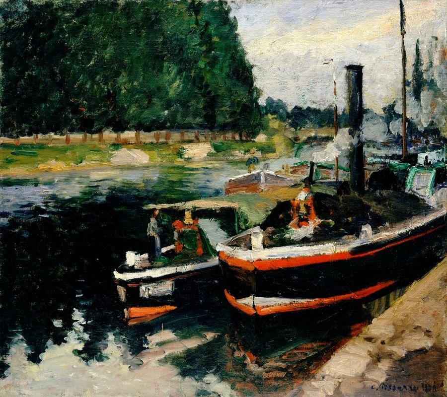 Obraz VCP-353 Camille Pissarro - Lodě v Pontoise