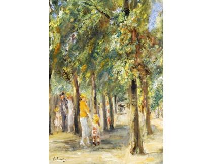 Krásné obrazy II-413 Max Liebermann - Motiv z Tiergarten